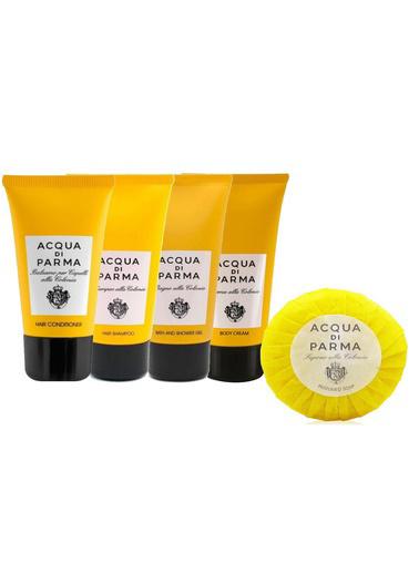 Acqua di Parma Acqua Di Parma 5 Li Set ( Şampuan 75 ml + Saç Kremi 75 ml + Parfümlü Sabun 50 g + Duş Jeli 75 ml + Vücut Kremi 75 ml ) Renksiz